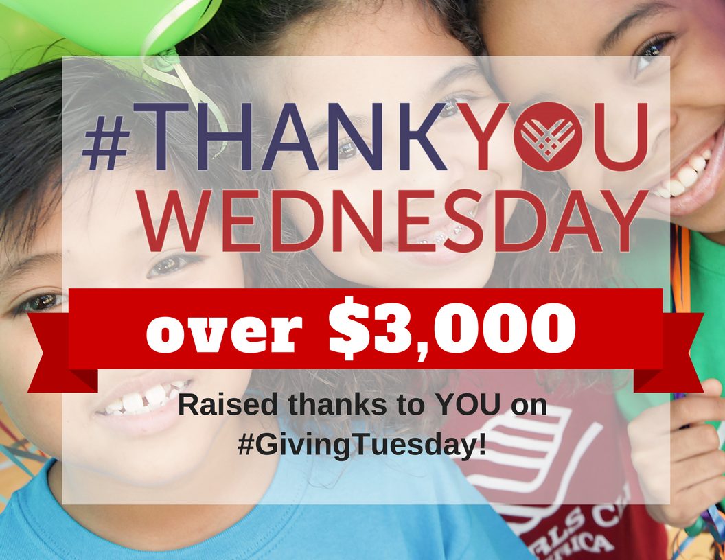 Thank You For Your #GivingTuesday Support!